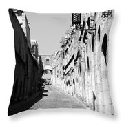 Avenue Of The Knights Throw Pillow