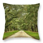 Avenue Of The Oaks Throw Pillow