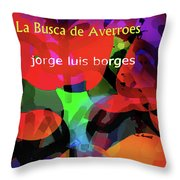 Averroes's Search Borges Poster Throw Pillow