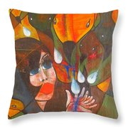 Aves Throw Pillow