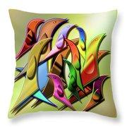Aviary In Harmony Throw Pillow