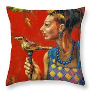 Aviary Queen Throw Pillow