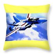 Aviation Art Catus 1 No. 1 19 H B Throw Pillow