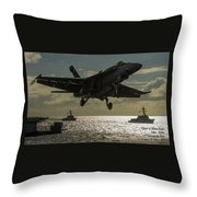 Aviation Art Catus 1 No. 26 L A Throw Pillow