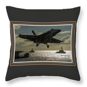 Aviation Art Catus 1 No. 26 L A With Decorative Ornate Printed Frame. Throw Pillow
