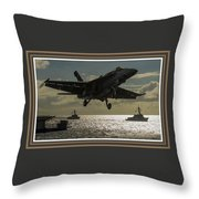 Aviation Art Catus 1 No. 26 L B With Decorative Ornate Printed Frame. Throw Pillow