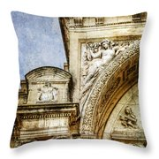Avignon Opera House Muse 1 - Vintage Version Throw Pillow