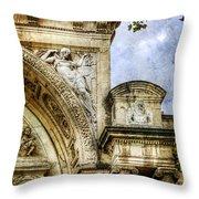 Avignon Opera House Muse 2 - Vintage Version Throw Pillow