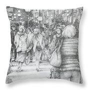 Avignon Shoppers Throw Pillow