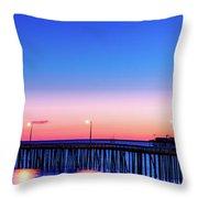 Avila Beach Pier At Sunset Throw Pillow