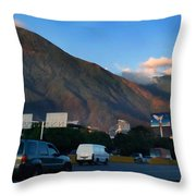 Avila From The Highway Throw Pillow