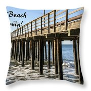Avila Pier Avila Beach California Throw Pillow