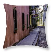 Aviles Street The Oldest Street In The Usa Throw Pillow
