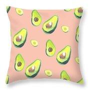 Avocad Print Throw Pillow