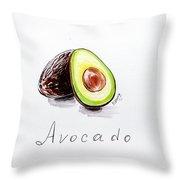 Avocado Lobule Throw Pillow