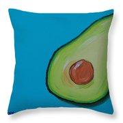 Avocado On The Side Throw Pillow