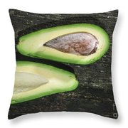 Avocado On Wood Throw Pillow