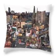 Avoidance Aka Sit And Stand Throw Pillow