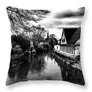 Avon Boathouse Throw Pillow