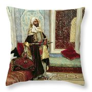 Awaiting An Audience Throw Pillow by Rudolphe Ernst