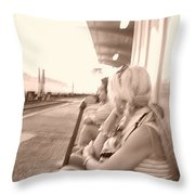 Awaiting Game 2 Throw Pillow