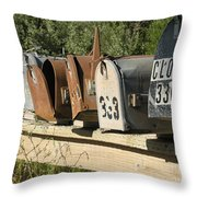 Awaiting Mail  Throw Pillow