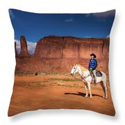 Awaiting The Challenge Throw Pillow