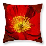 Awake To Red Throw Pillow