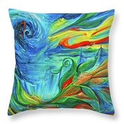 Awaken The Eagle Throw Pillow