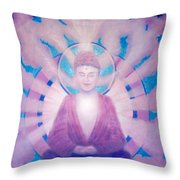 Awakening Buddha Throw Pillow