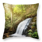 Awakening In The Forest Throw Pillow