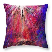 Away In A Manger Throw Pillow by Rachel Christine Nowicki