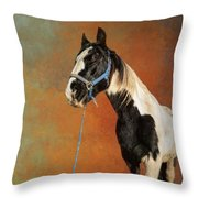 Awesome Gypsy Horse Throw Pillow