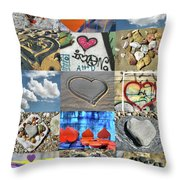 Awesome Hearts - Collage Throw Pillow