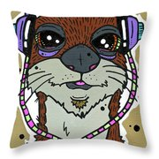 Awesome Otter Throw Pillow