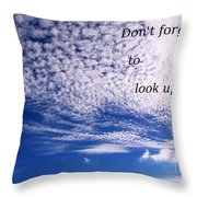Awesome Sky And Cloud Formation Throw Pillow