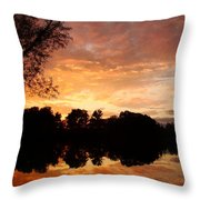 Awesome Sunset Throw Pillow