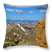 Awesome View From The Mount Massive Summit Throw Pillow