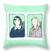 Awkwardness Of Youth Throw Pillow