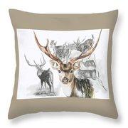 Axis Deer Throw Pillow