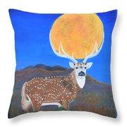 Axis Moon Throw Pillow