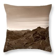Ayacata And Roque Nublo Throw Pillow
