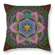 Ayahuasca Throw Pillow by Galina Bachmanova