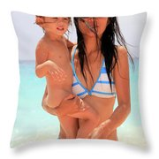 ayesha and Mones Throw Pillow