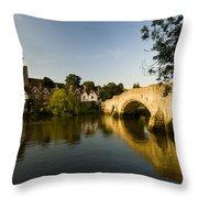 Aylesford Bridge Kent Throw Pillow