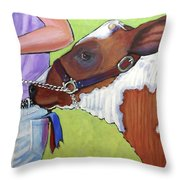 Ayrshire Show Heifer Throw Pillow