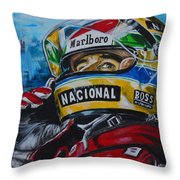 Ayrton, El Mito Throw Pillow