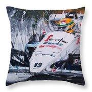 Ayrton Senna Toleman 1984 Throw Pillow