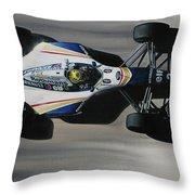 Ayrton Senna - Williams Renault Fw16 Throw Pillow