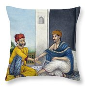 Ayurvedic Medical Practitioner Taking Throw Pillow